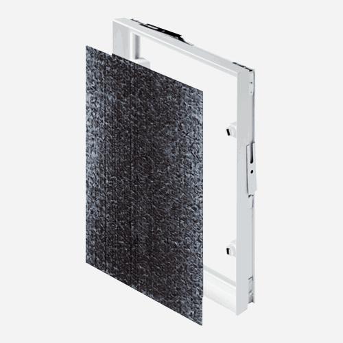 Dvířka pod obklad PVC, 200 mm x 200 mm, plastová, bílá