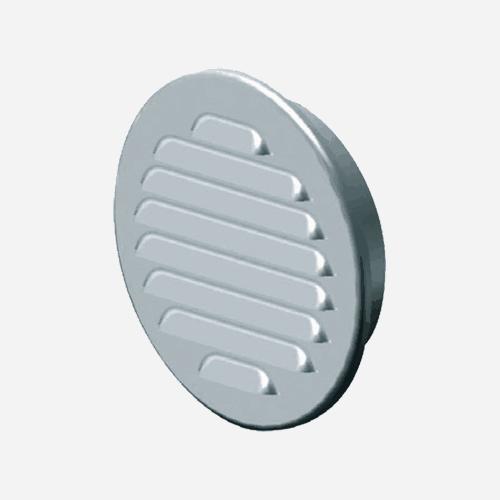 Mřížka větrací kruhová KOV se síťovinou, průměr 155 mm / 125 mm, nerez