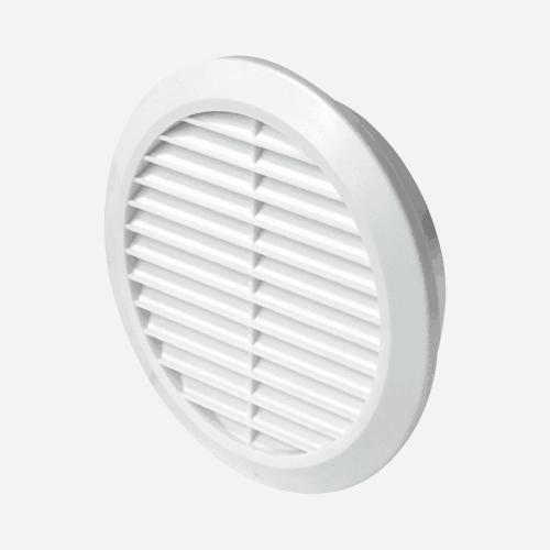 Mřížka větrací kruhová se síťovinou, průměr 125 mm, bílá