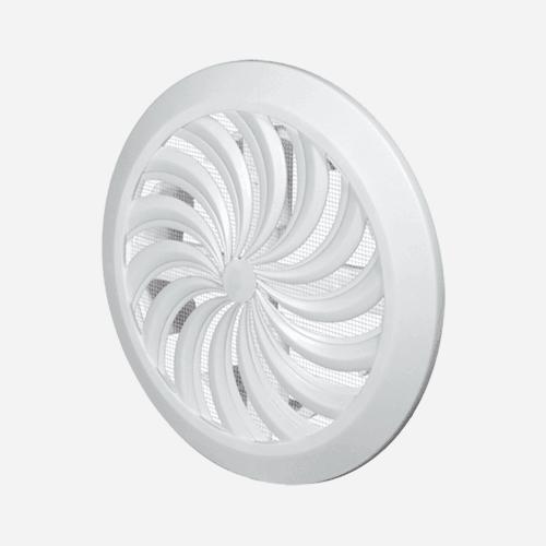 Mřížka větrací kruhová se síťovinou – uzavíratelná, průměr 110 mm, bílá