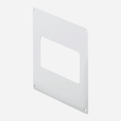 Příruba nástěnná, 110 mm x 55 mm, plastová
