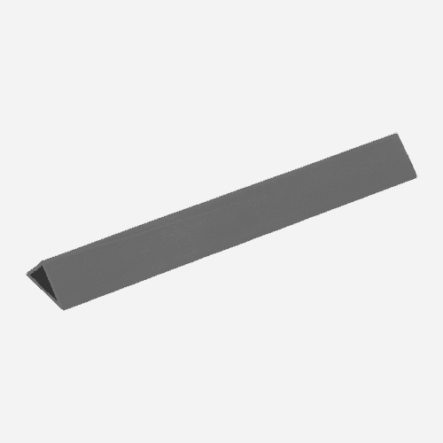 Rohová lišta D, 10 mm x 2,5 m, PVC