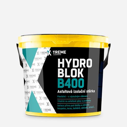 Asfaltová izolační stěrka HYDRO BLOK B400, kbelík 10 kg, černá
