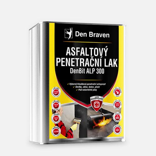 Asfaltový penetrační lak DenBit ALP 300, plechový kanystr 4 kg, černý
