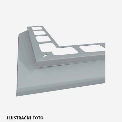 Balkónový profil rohový, 2 m, RAL 8070, hnědý