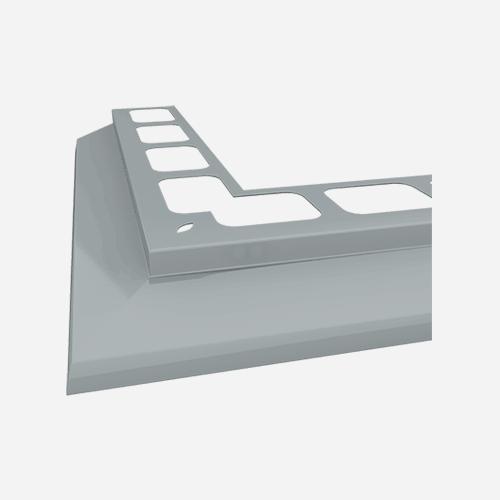 Balkónový profil rohový, 2 m, RAL 7001, šedý