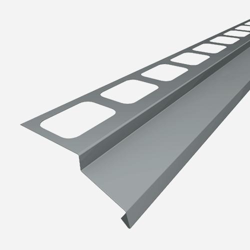 Balkónový profil, 2 m, RAL 7001, šedý