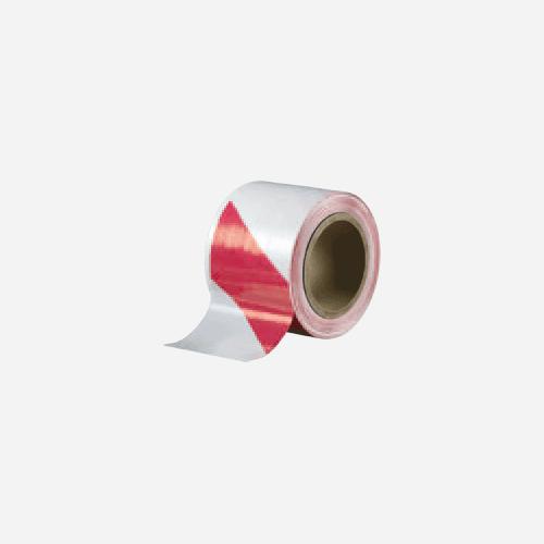 Bariérová páska, 100 mm x 100 m, červenobílá