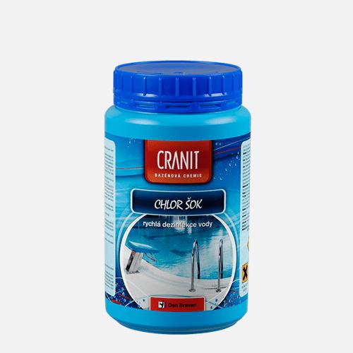Cranit Chlor šok - rychlá dezinfekce vody, dóza, 1 kg