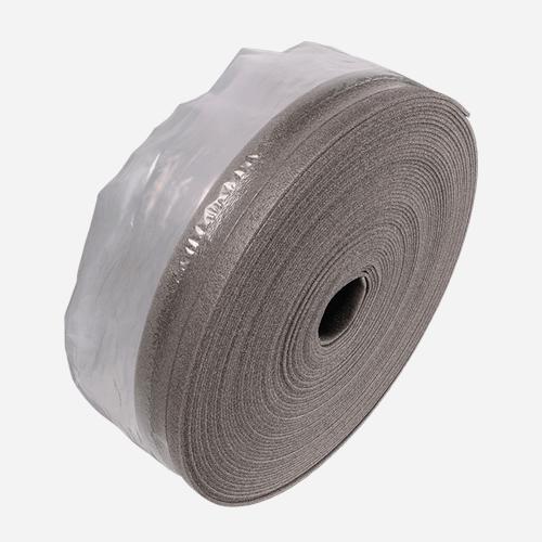 Dilatační pás, 100 mm x 50 m, tloušťka 10 mm, s fólií, šedý