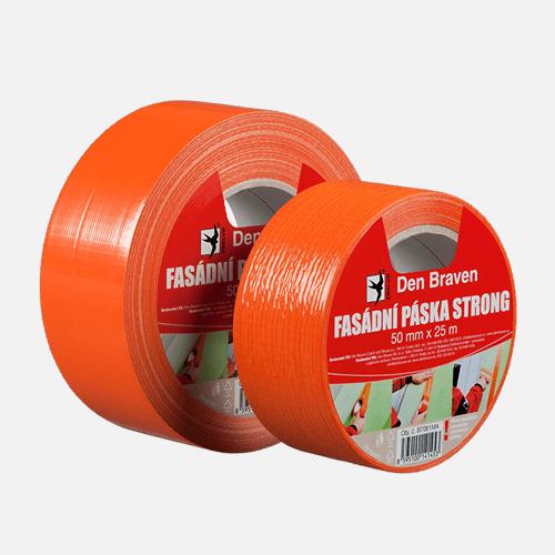 Fasádní páska STRONG, 50 mm x 25 m, oranžová