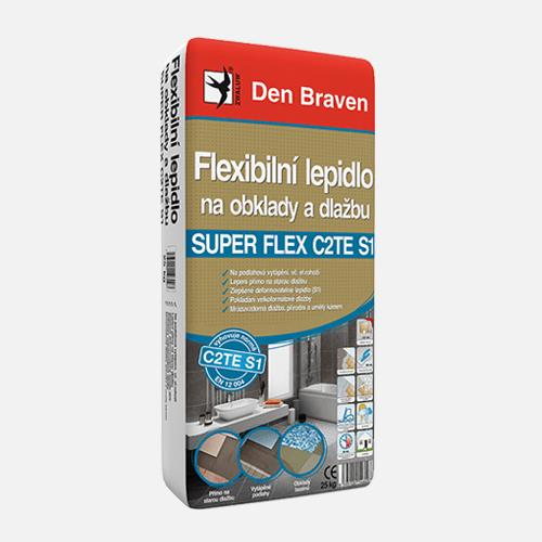 Flexibilní lepidlo na obklady a dlažbu SUPER FLEX C2TES1, pytel 25 kg