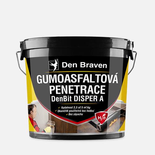 Gumoasfaltová penetrace DenBit DISPER A, kbelík 10 kg, černá