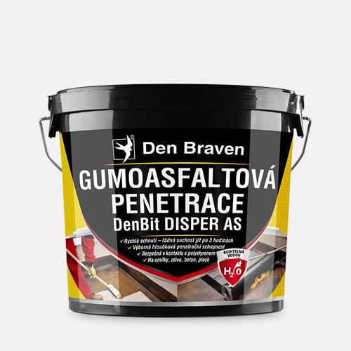 Gumoasfaltová penetrace DenBit DISPER AS, kbelík 5 kg, černá