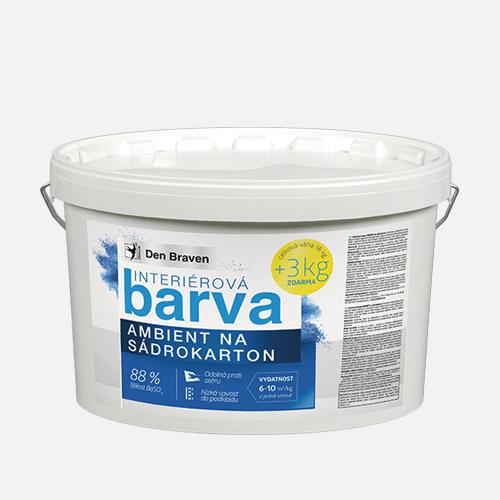 Interiérová barva AMBIENT na sádrokarton, kbelík 15 kg + 3 kg ZDARMA, bílá
