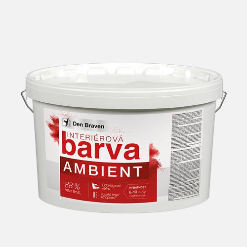 Interiérová barva AMBIENT, kbelík 15 kg + 3 kg ZDARMA, bílá