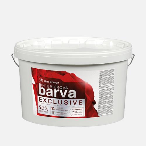 Interiérová barva EXCLUSIVE, kbelík 15 kg, bílá