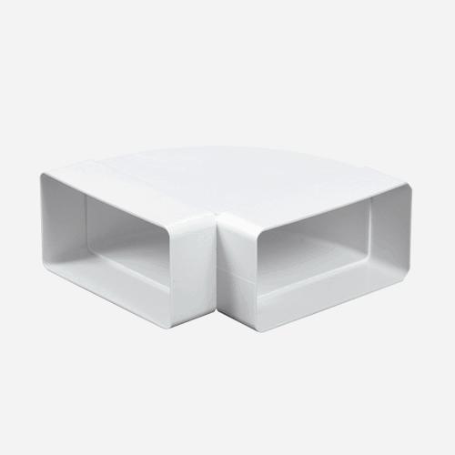 Koleno vodorovné ploché 90°, 55 mm x 110 mm, plastové