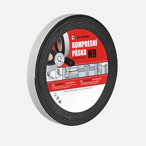 Kompresní páska HB, 20 mm x 8 mm x 5 m, černá