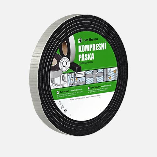 Kompresní páska, 15 mm x 6 mm x 5 m, černá