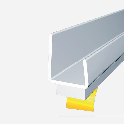 Lemovací profil s dilatační páskou, 2,5 m x 12,5 mm, plastový, bílý