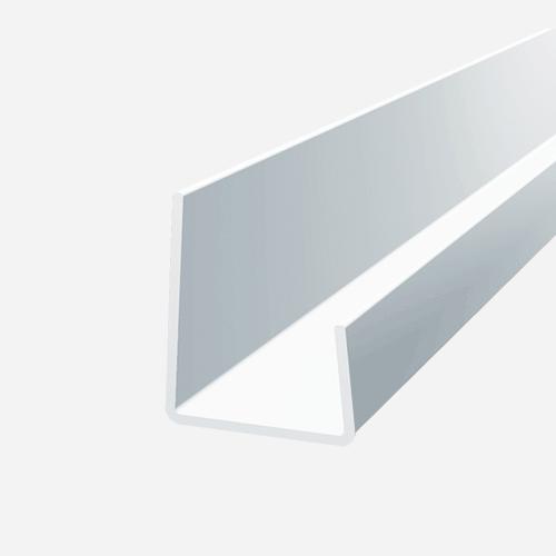 Lemovací profil, 3 m x 9,5 mm, plastový, bílý
