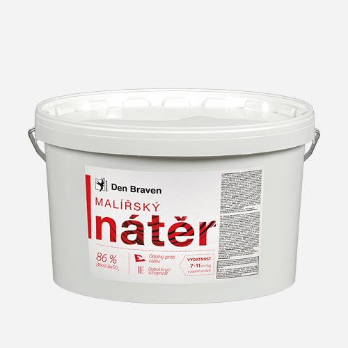 Malířský nátěr, kbelík 14 kg + 1 kg ZDARMA, bílý