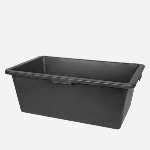 Maltovník obdelníkový, 90 litrů, plastový, černý