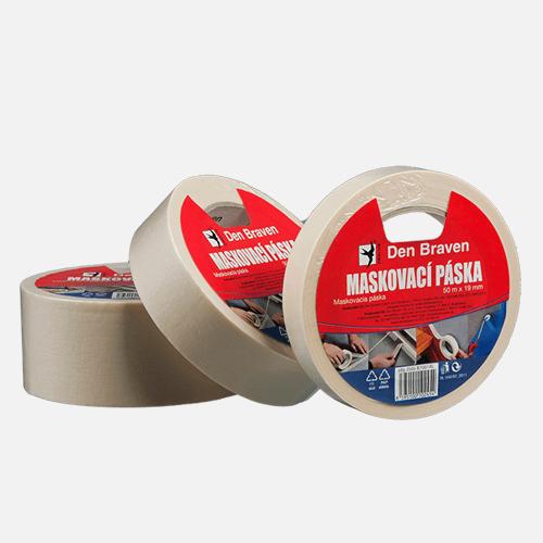 Maskovací krepová páska 80 °C, 30 mm x 50 m