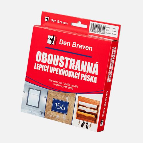 Oboustranně lepicí upevňovací páska v krabičce, 15 mm x 2 mm x 10 m, bílá