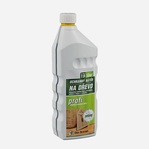 Ochranný nátěr na dřevo PROFI, láhev 1 kg, hnědý