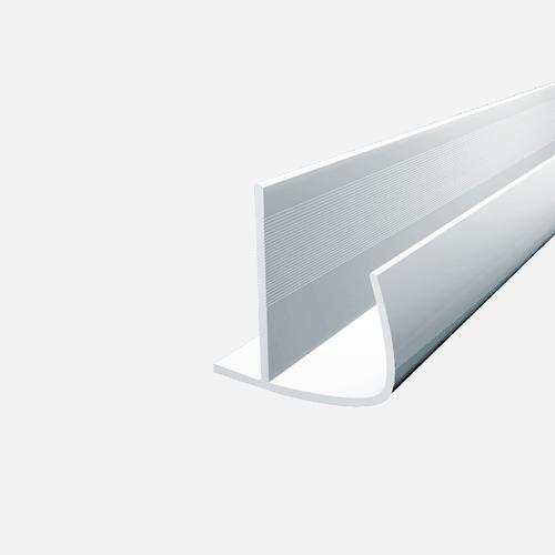 Ochranný roh oblý, 2,5 m x 12,5 mm, plastový, bílý