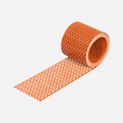 Okapová mřížka EAVES GRATE, 100 mm x 5 m, cihlově červená