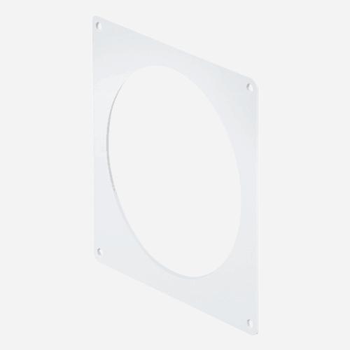 Příruba nástěnná kulatá, průměr 100 mm, plastová