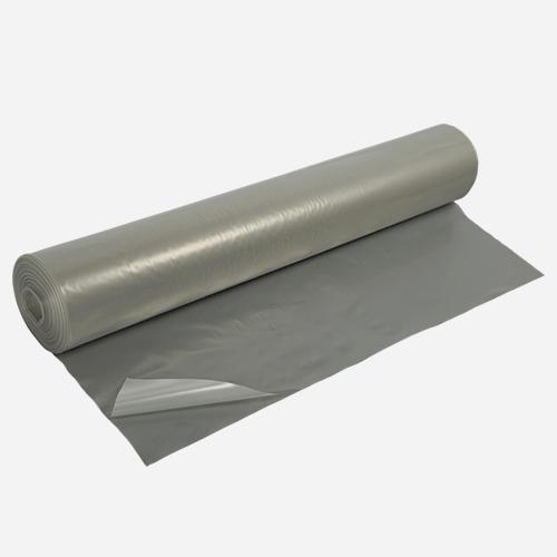PE fólie stavební polorukáv, 1,0 m / 2,0 m x 10 m Tloušťka 100 Transparentní