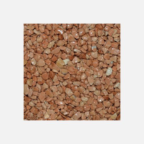 Mramorové kamínky 3 - 6 mm, pytel 25 kg, cihlově červené