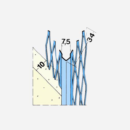 Roh ostrý 10077, 2,5 m x 10 mm, kovový