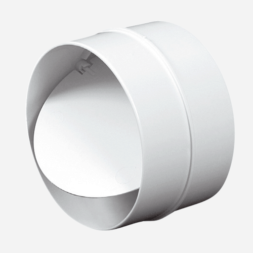 Spojka kulatého kanálu s klapkou, průměr 125 mm, plastová