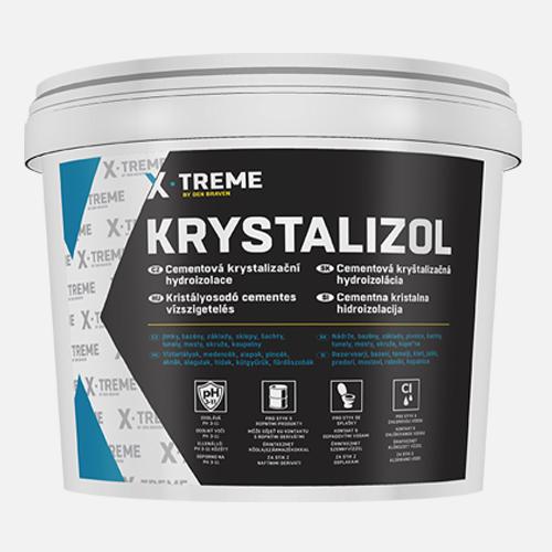 Cementová krystalizační hydroizolace Krystalizol, kbelík 20 kg, šedá