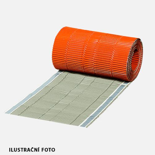 Hřebenový pás METAL ALU, 5 m x 310 mm, kaštanový