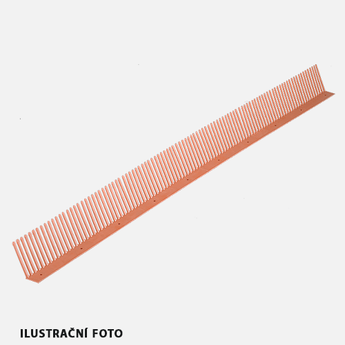 Okapový hřeben COMB, 60 mm x 1000 mm, černý