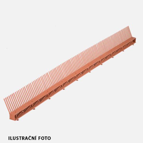 Okapový hřeben s ventilační mřížkou COMB VENTI, 85 mm x 1000 mm, černý