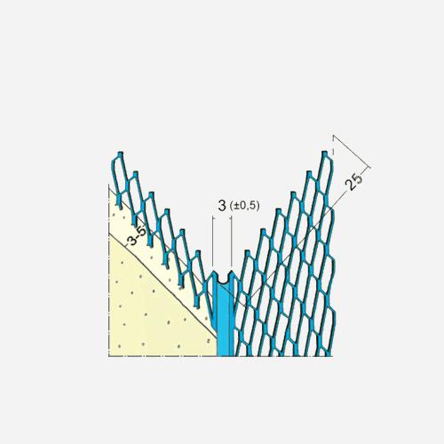 Profil pro suchou výstavbu MMG 25, 2,5 m x 3 mm, kovový