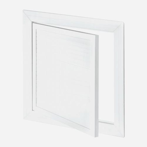 Revizní dvířka PVC, 600 mm x 600 mm, otočný zámek, bílá