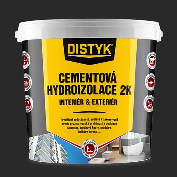 CEMENTOVÁ HYDROIZOLACE 2K INTERIÉR A EXTERIÉR Distyk, kbelík 7 kg, šedá