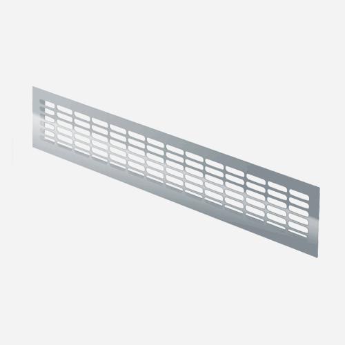 Mřížka větrací hliníková, 470 mm x 80 mm, hliníková