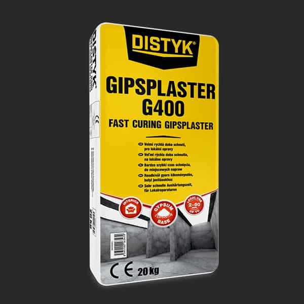 RYCHLETUHNOUCÍ SÁDROVÁ HMOTA G400 Distyk / PLASTER G400, pytel 20 kg, bílá