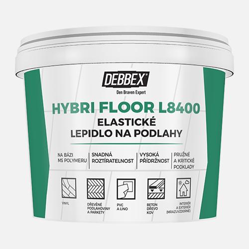 Elastické lepidlo na podlahy HYBRI FLOOR L8400, kbelík 15 kg