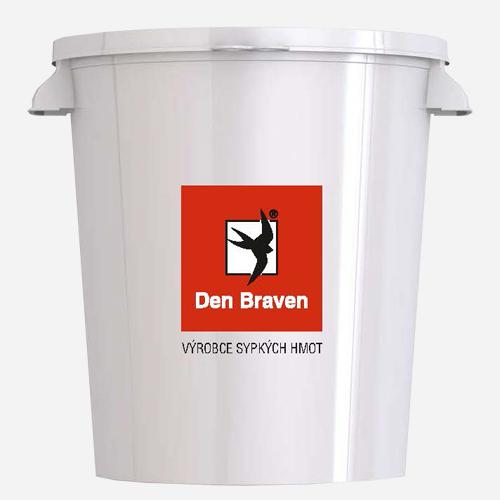 Míchací kbelík, 30 litrů, plastový, bílý s potiskem