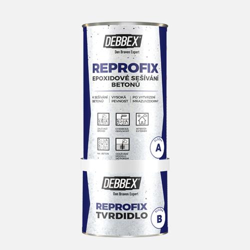 REPROFIX Epoxidové sešívání betonů, sada plechovek 1,24 kg a spony